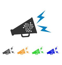 Iota alert megaphone icon vector