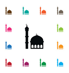 Isolated mosque icon traditional element vector