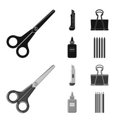 Isolated object of office and supply symbol vector