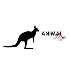 kangaroo icon logo symbol vector image