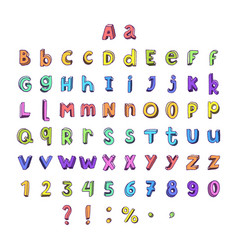 kids cartoon colorful full alphabet vector image