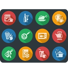 Kitchen and cooking buttons vector image