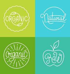 Labels in trendy mono line style - premium quality vector