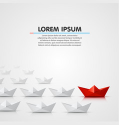 leader paper boat different vector image
