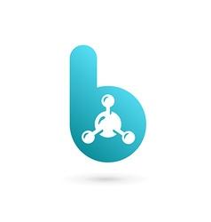 Letter b molecule logo icon design template vector