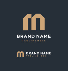 Letter m logo concept vector