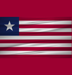 liberia flag flag of liberia blowig in the wind vector image