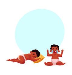 little black african american baby sleeping vector image
