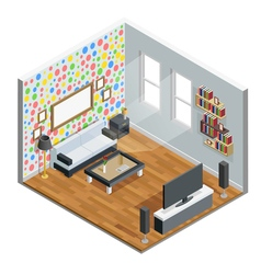Living Room Isometric Design vector image
