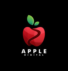 logo apple gradient colorful style vector image