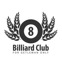 logo for billiard school club or shop vector image