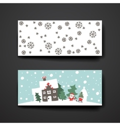 Merry Christmas Set Of Card Templates vector image