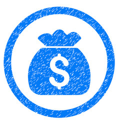 Money bag rounded grainy icon vector
