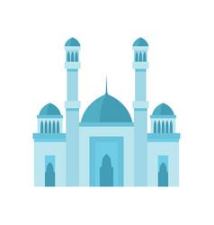 Mosque building light blue color vector