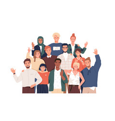 multicultural team flat unity vector image