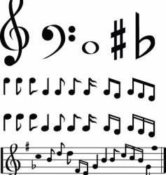 Music note selection vector