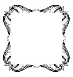 Ornament in baroque style for filigree vector