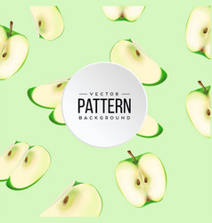 pattern green apple green background image vector image