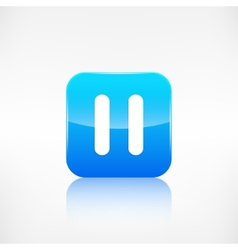 Pause icon Application button vector