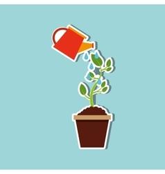 Plant pot design vector