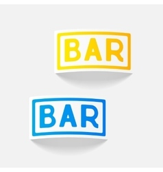 Realistic design element bar vector