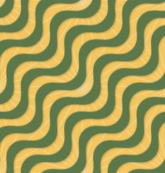 Retro 3D yellow green waves and rays vector
