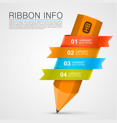 Ribbon with a pencil list of options vector