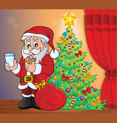 Santa claus breakfast theme 5 vector