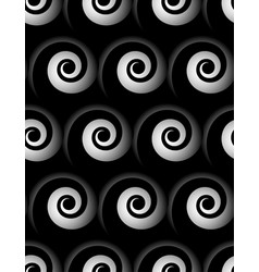 Seamless pattern with spiral monochrome vector
