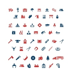 Set color icons of industry vector image