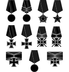 set of orders and medals vector image