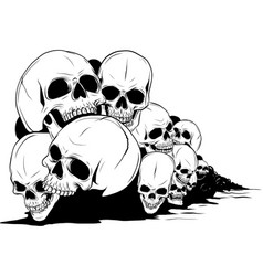 Skull and crossbones human skulls and bones with vector
