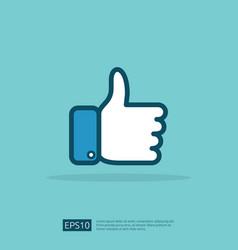 Social network like icon hand thumb up symbol vector