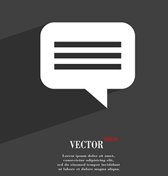 Speech bubble Chat think icon symbol Flat modern vector