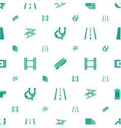 Strip icons pattern seamless white background vector