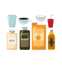 tasty food design vector image