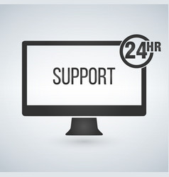 technical support computer support 24 hours vector image