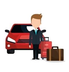 Valet parking hotel service vector