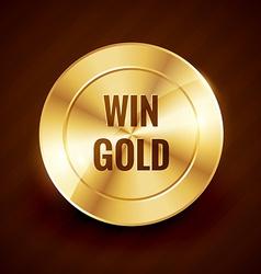 win gold label beautiful design vector image