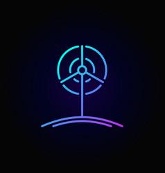Wind turbine outline colorful icon vector