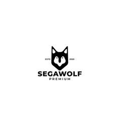 Wolf or dog siberian or pet head logo design vector