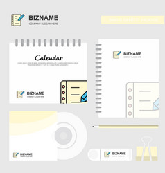 writing on notes logo calendar template cd cover vector image