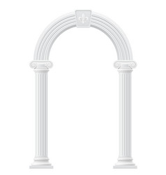 antique arch 02 vector image