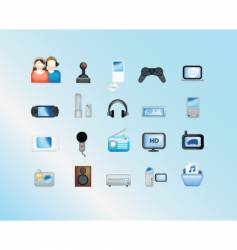 electronic gadgets vector image