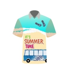 T-shirt with image of sea bus for trip to rest vector image