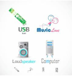 technical icons vector image vector image