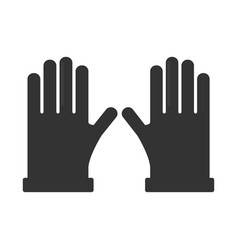 Two pair of gloves black silhouettes isolated on vector
