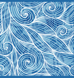 Light blue hair curls waves seamless pattern vector image vector image