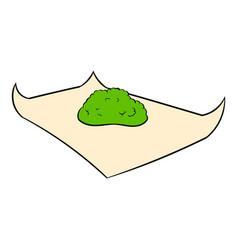 marijuana on rolling paper icon cartoon vector image