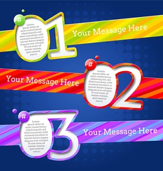 Modern design templates with numbers and striped vector image vector image